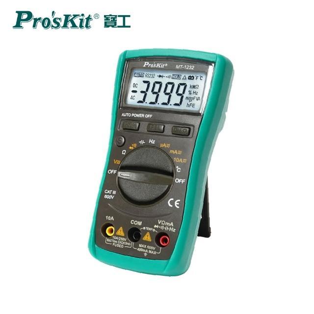 【Pro'sKit 寶工】ProsKit 寶工 MT-1232 3又3/4自動數位錶(電容測試)