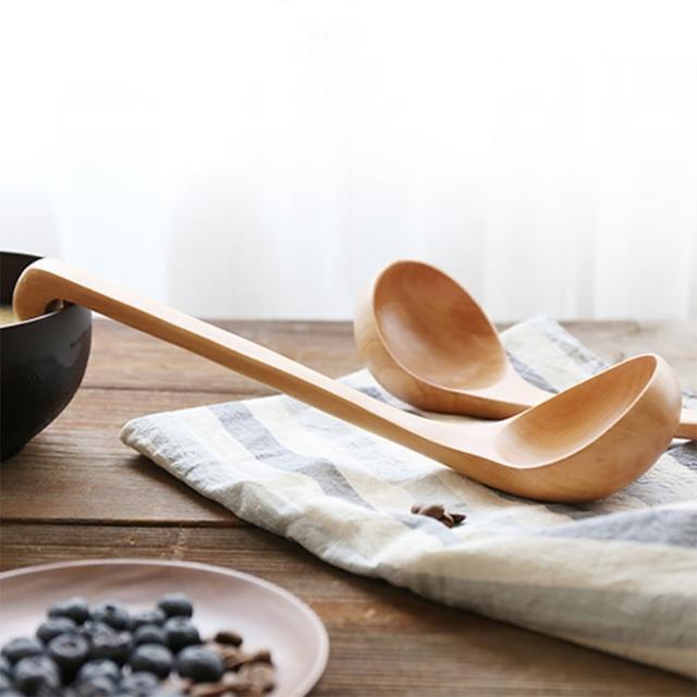 【小茉廚房】天然荷木 湯勺 長柄勺 火鍋勺  不沾鍋 一般鍋具適用(掛鉤式設計)