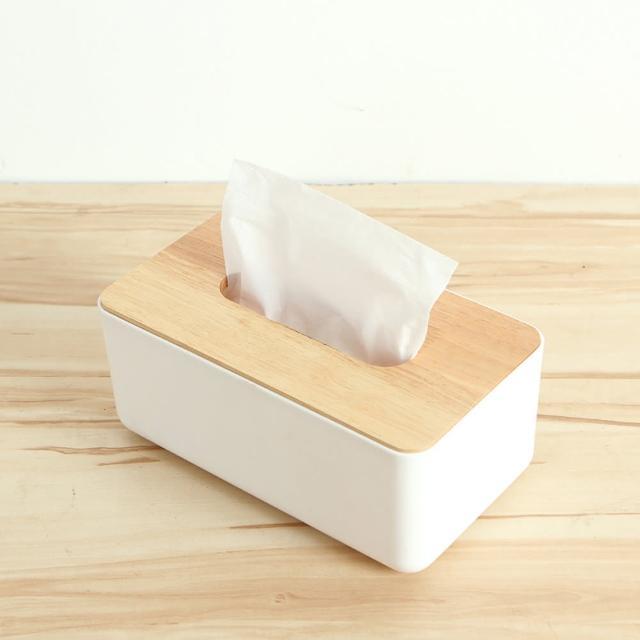 【三房兩廳】震撼價-橡木面紙盒-小(文創方形木蓋面紙盒/面紙盒)