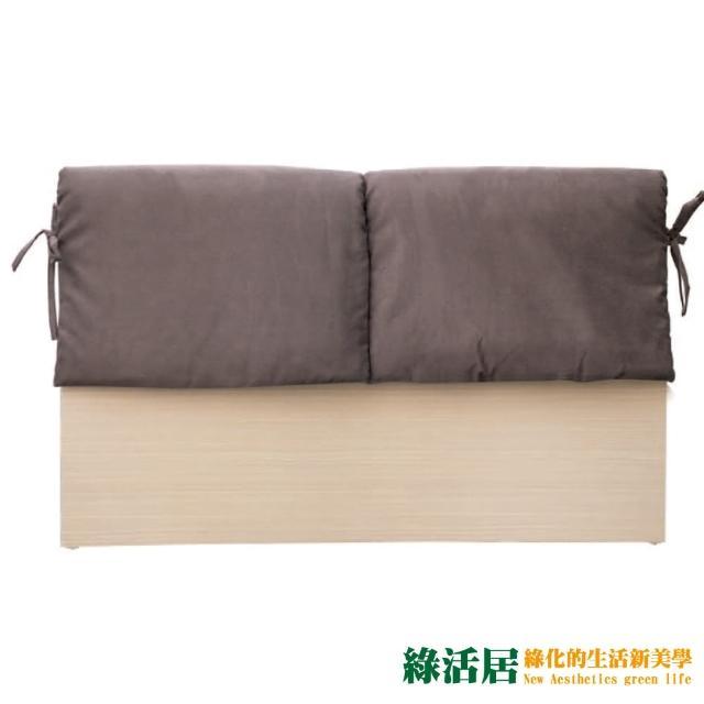 【綠活居】蘇亞比  時尚6尺亞麻布雙人加大白橡床頭片(二色可選)