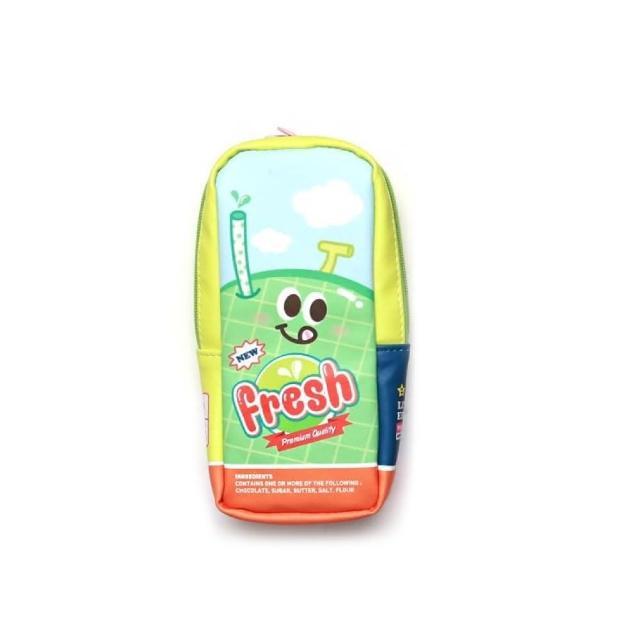 【morning glory】新鮮果汁罐造型筆袋3款-哈密瓜(韓國進口 筆帶 療癒 仿真食物)