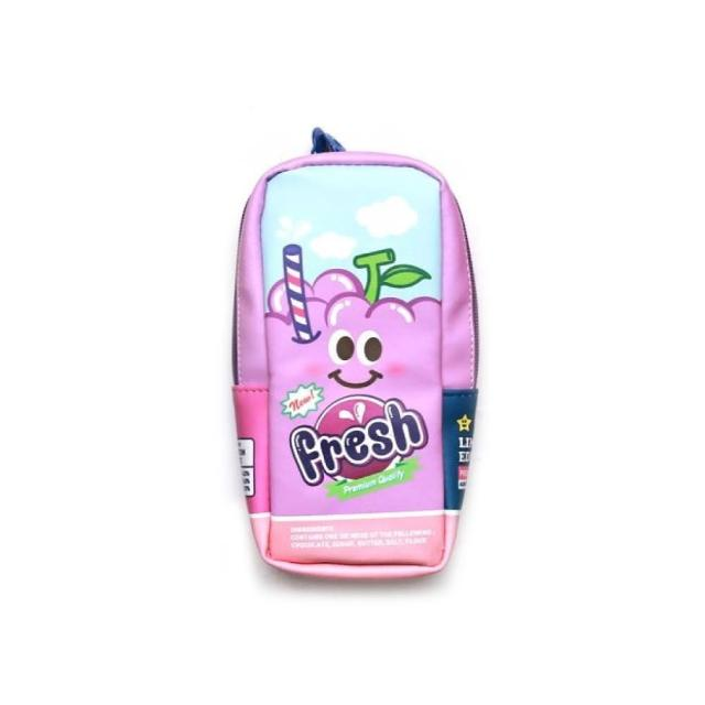 【morning glory】新鮮果汁罐造型筆袋3款-葡萄(韓國進口 筆袋 療癒 仿真食物)