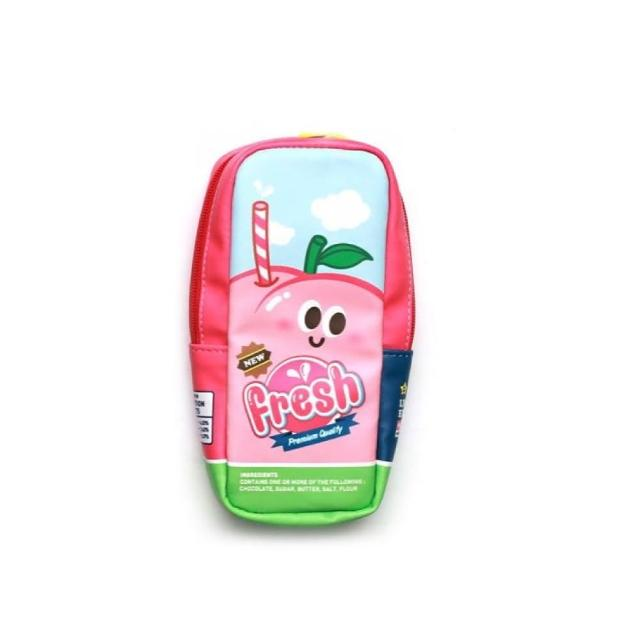 【morning glory】新鮮果汁罐造型筆袋3款-水蜜桃(韓國進口 筆袋 療癒 仿真食物)