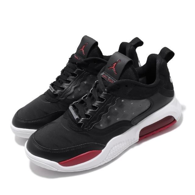 【NIKE 耐吉】休閒鞋 Jordan Max 200 運動 男鞋 喬丹 氣墊 避震 舒適 穿搭 球鞋  黑 白(CD6105-006)