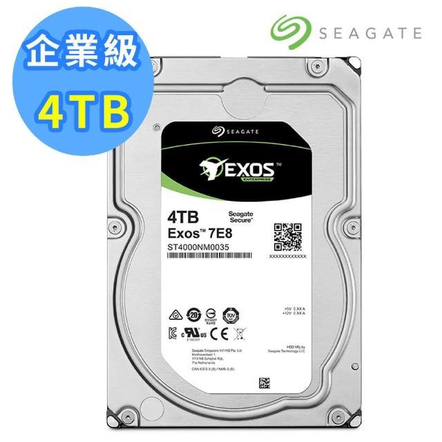 【SEAGATE 希捷】2入組 4TB SATA 7200轉 3.5吋企業級硬碟(ST4000NM0035)