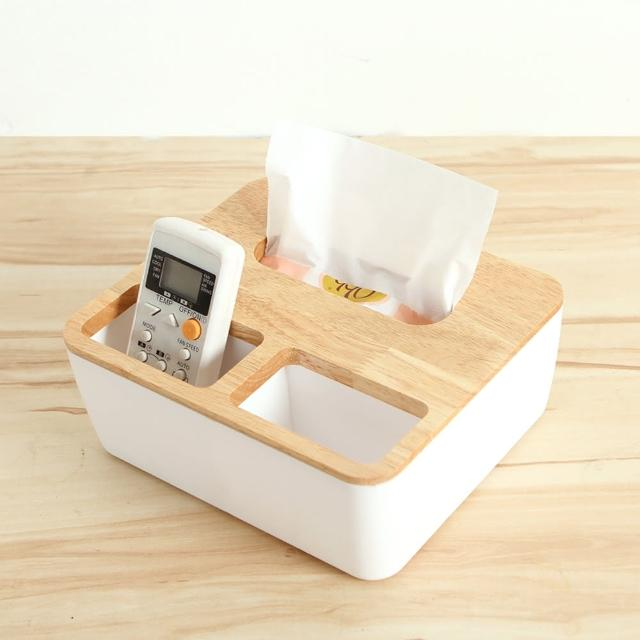 【巴芙洛】震撼價-橡木面紙盒-大(文創方形三格木蓋/面紙盒/衛生紙盒)