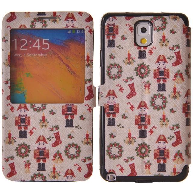 【Aztec】個性彩繪Samsung Galaxy S3 mini 視窗手機保護皮套(可愛士兵)