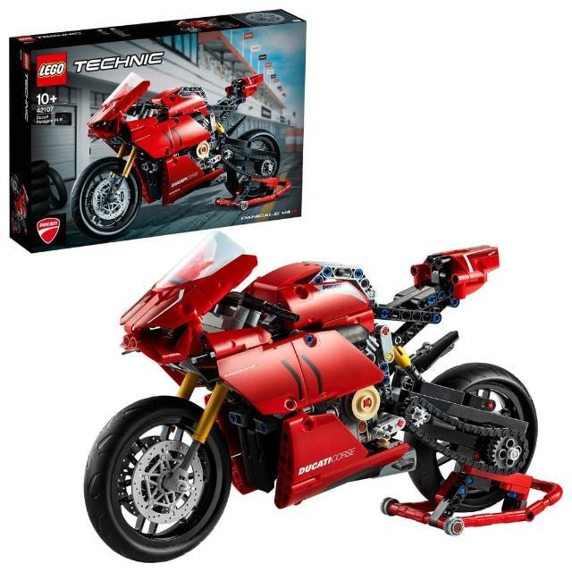 【LEGO 樂高】科技系列 Ducati Panigale V4 R 42107 玩具車 模型(42107)