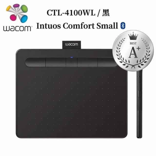 【Wacom】福利品★Intuos Comfort Small 藍牙繪圖板-黑色(CTL-4100WL/K0-C)