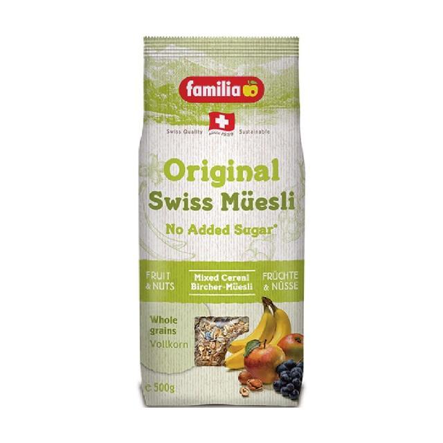 【Familia】瑞士全家綜合穀物早餐 無蔗糖 500g(來自瑞士的天然穀物)