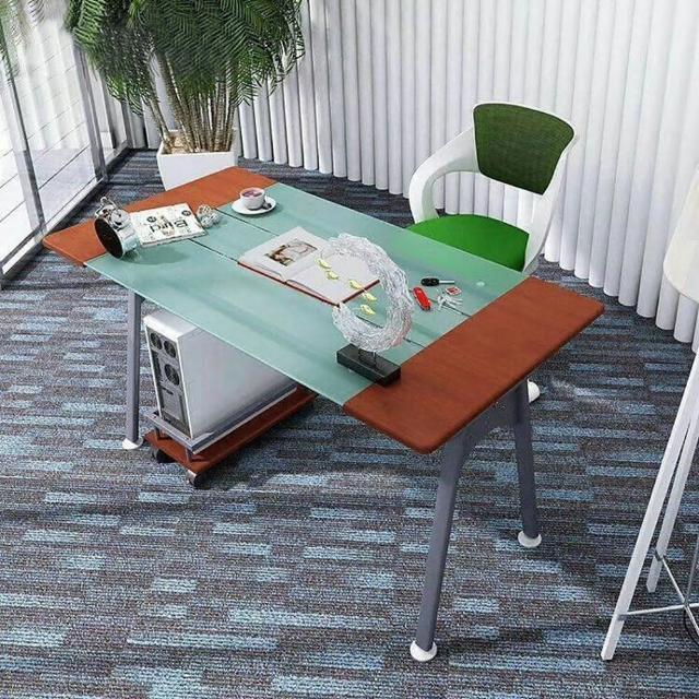【IHouse】DIY刻瑞斯 熱銷電腦置物架玻璃電書桌工作桌