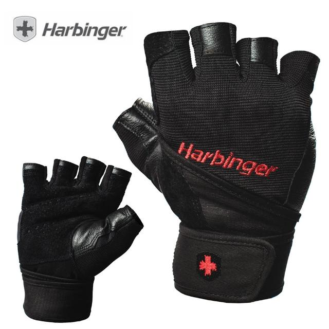 【HARBINGER】Pro Wristwrap Men Gloves(重訓/健身用專業手套 1140 黑)