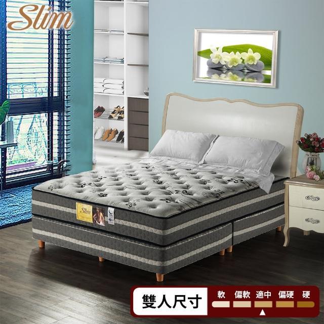 【SLIM加厚紓壓型】涼感透氣紓壓獨立筒床墊(雙人5尺)