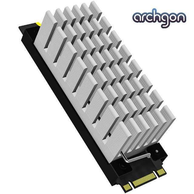 【archgon 亞齊慷】M.2 2280 SSD 散熱片組-銀色(HS-0130-S)