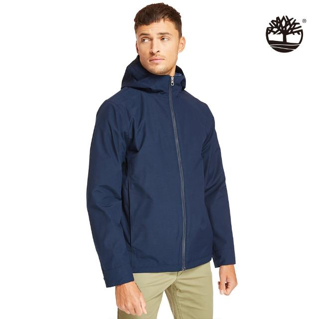 【Timberland】男款深寶石藍色智能穿搭可收納連帽外套(A29XA433)