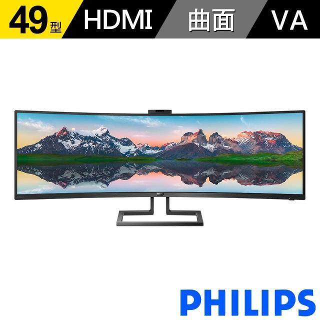 【Philips 飛利浦】499P9H1 49型 Dual QHD曲面顯示器(32:9)