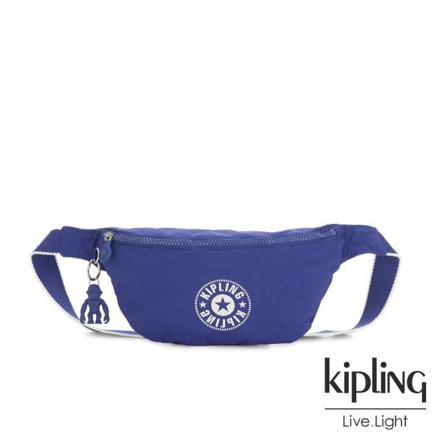【KIPLING】激光藍品牌經典圓標潮流隨身腰包-FRESH