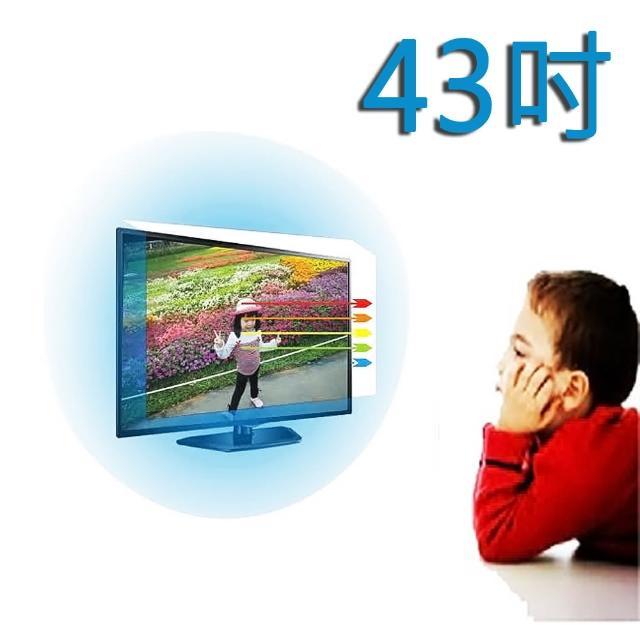 【台灣製~護視長】43吋 抗藍光液晶螢幕 電視護目鏡(RANSO 聯碩 C款 43R-DC1)