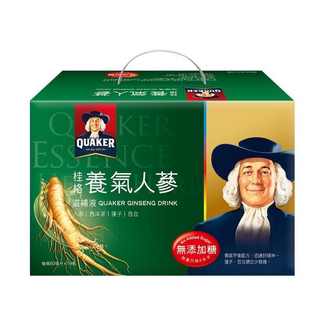 【QUAKER 桂格】無糖養氣人蔘禮盒60ml*19入