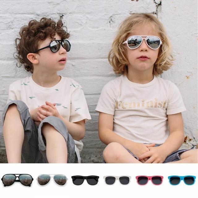 【Hipsterkid】抗UV偏光嬰幼兒童太陽眼鏡-飛行員(附固定繩)