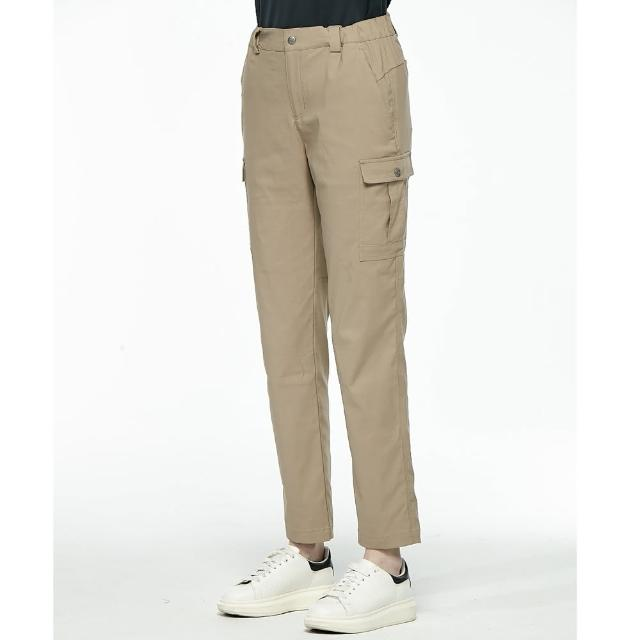 【Wildland 荒野】中性彈性抗UV貼袋機能褲(卡其色)