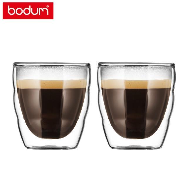 【Bodum】PILATUS 雙層玻璃杯兩件組 80cc-2入