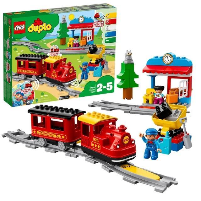 【LEGO 樂高】得寶幼兒系列 蒸汽列車 10874 積木 火車(10874)