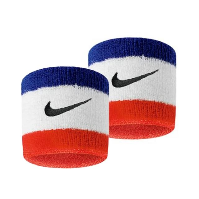 【NIKE 耐吉】Nike Swoohs  護腕 運動 打球 健身 單色 腕帶 吸濕 排汗 乾爽 彈性 藍紅(N0001565620OS)