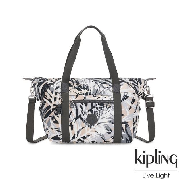 【KIPLING】夏日棕櫚印花手提側背包-ART