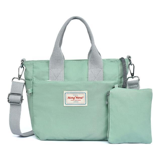 【VIVI SECRET】素色輕便防潑水斜背手提二用小包(共4色 附拉鍊小袋)