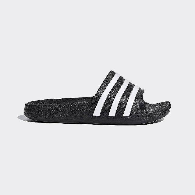 【adidas 愛迪達】SLIDES 大童 童鞋 休閒 運動 游泳 涼拖鞋 黑 F35556