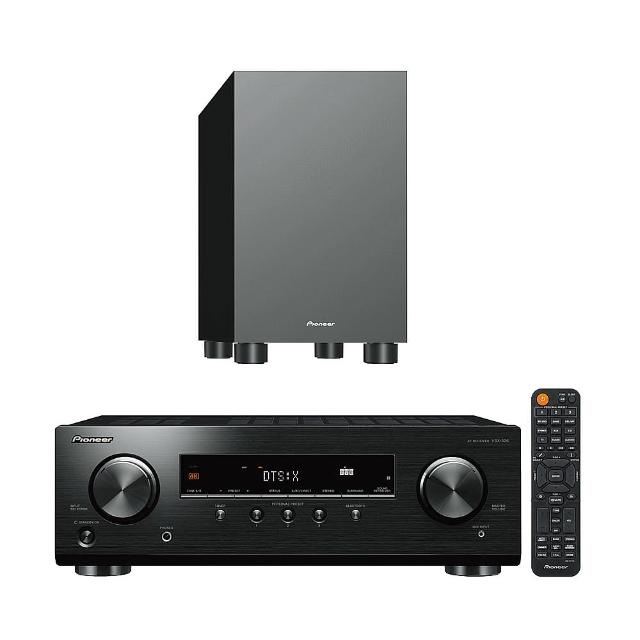 【Pioneer 先鋒】VSX-326+S-13W(AV環繞擴大機+重低音喇叭)