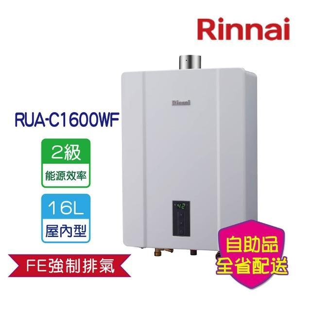 【林內★振興月加碼送500★】RUA-C1600WF屋內大廈型強制排氣熱水器16L(含運不含安裝)