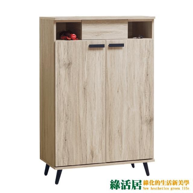 【綠活居】比卡  現代2.7尺二門單抽鞋櫃/玄關櫃