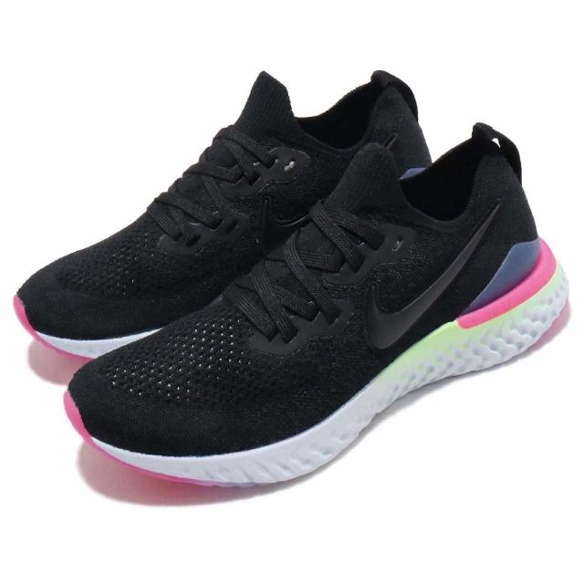 【NIKE 耐吉】慢跑鞋 Epic React Flyknit 女鞋 路跑 避震 健身 運動 2代 穿搭 襪套 黑 白(BQ8927-003)
