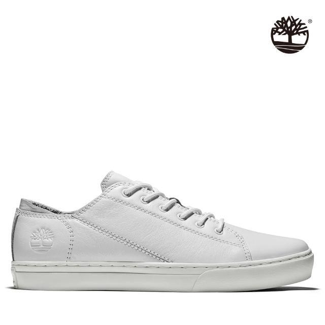 【Timberland】男款白色全粒面革探索2.0牛津鞋(A2JYP100)