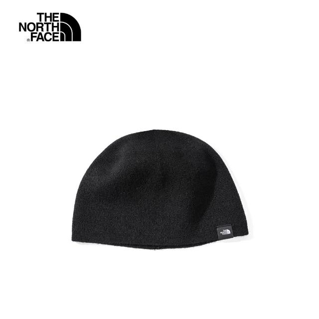 【The North Face】The North Face北面男女款黑色針織毛帽|4SIFJK3