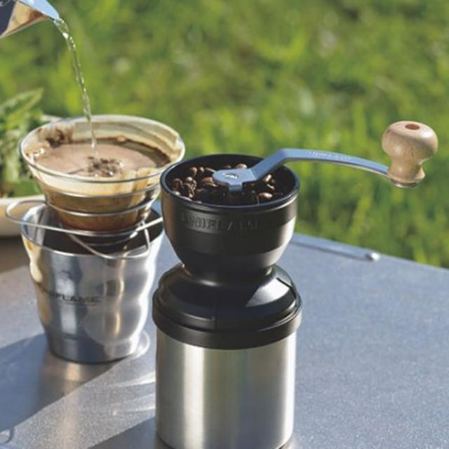 【UNIFLAME】手搖式咖啡磨豆機 收納輕巧(664070)