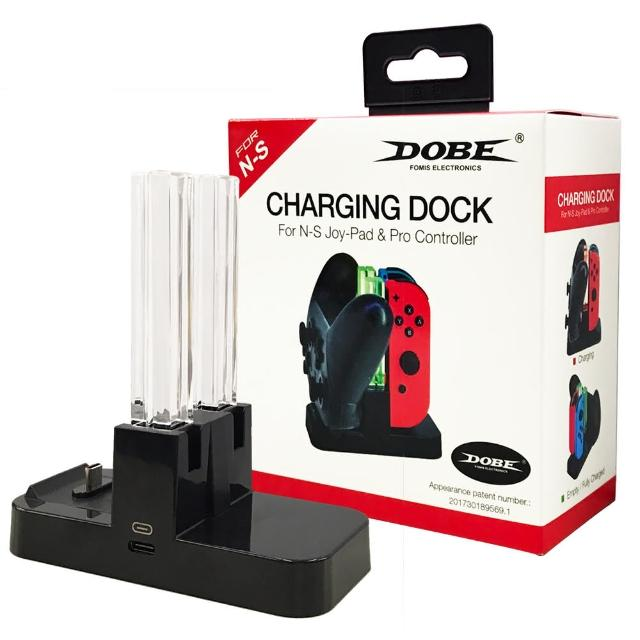 【Nintendo 任天堂】Switch副廠Joy-Con+Pro雙用手把充電座