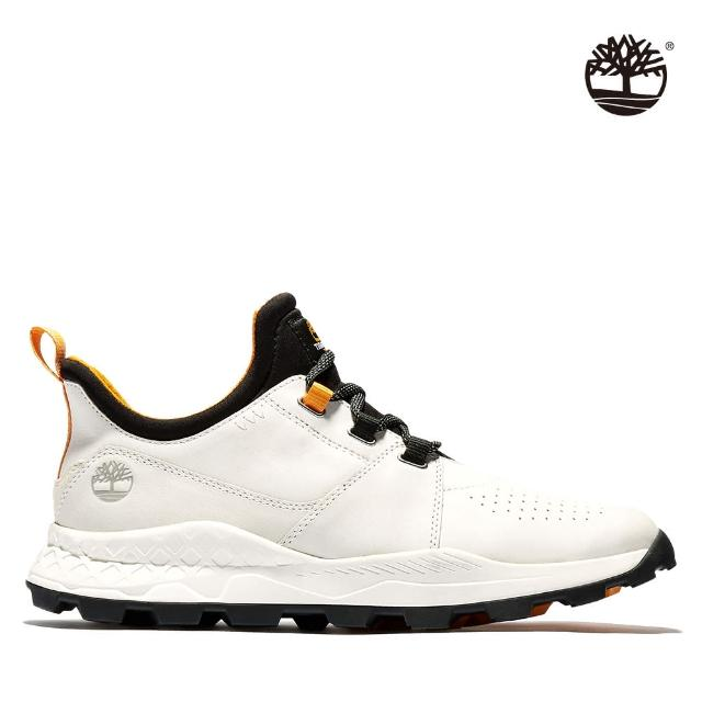 【Timberland】男性白色磨砂革綁帶休閒防潑水牛津鞋(A2HRV143)