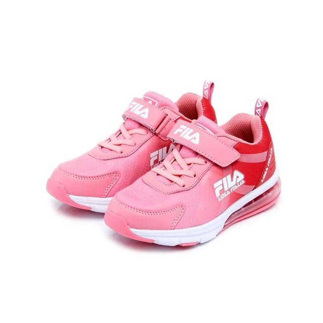 【FILA】KIDS 大童MD氣墊慢跑鞋-粉(3-J808U-521)