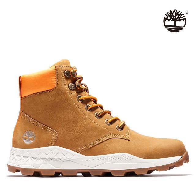 【Timberland】男款小麥黃磨砂革布魯克林6吋靴(A2DSZ231)