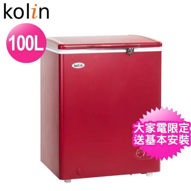 【Kolin 歌林★送安裝】100L臥式冷凍冷藏兩用冰櫃(KR-110F02)