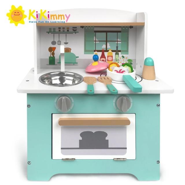 【kikimmy】英格蘭鄉村木製廚房玩具組(附配件5件)