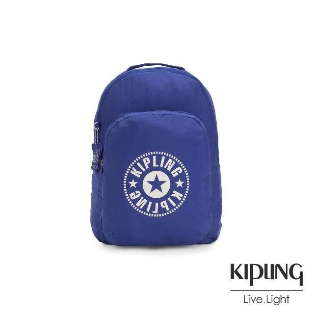 【KIPLING】活力四射藍好收納後背包-BACKPACK