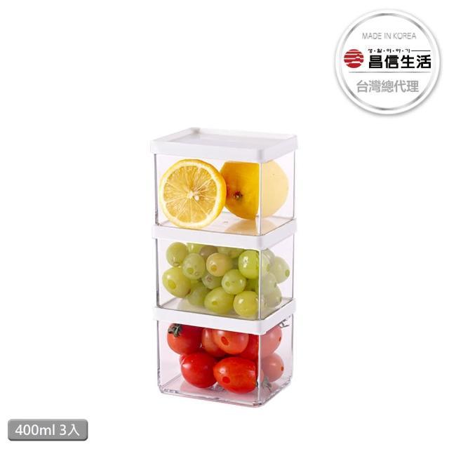 【韓國昌信生活】POCKET冰箱萬用400ml保鮮盒-3入組