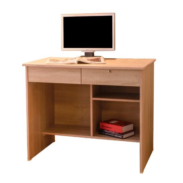 【AT HOME】現代國民經典3尺橡木紋色二抽收納書桌/電腦桌/工作桌(下座/金點將)