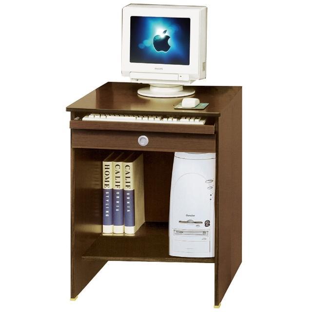 【AT HOME】現代小資專屬2尺胡桃色收納書桌/電腦桌/工作桌(下座/活力)