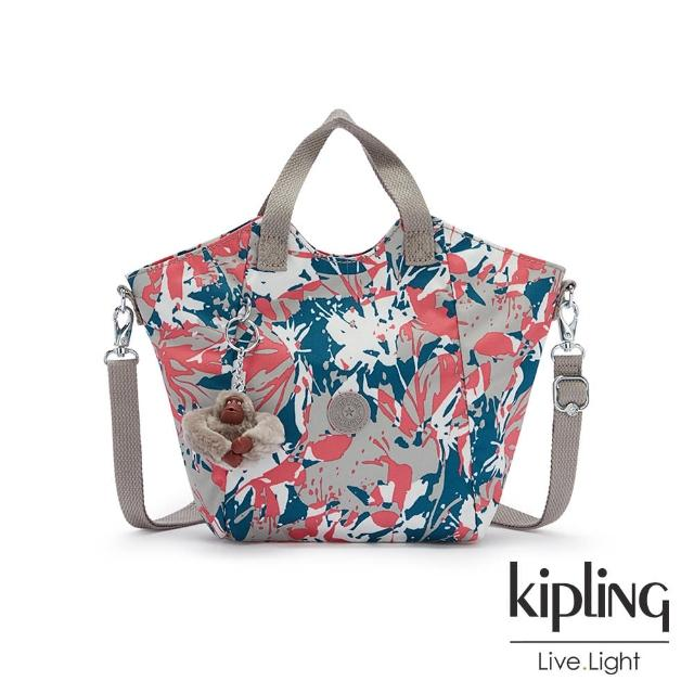 【KIPLING】碰撞魅力潑墨輕盈手提斜背包-NORI