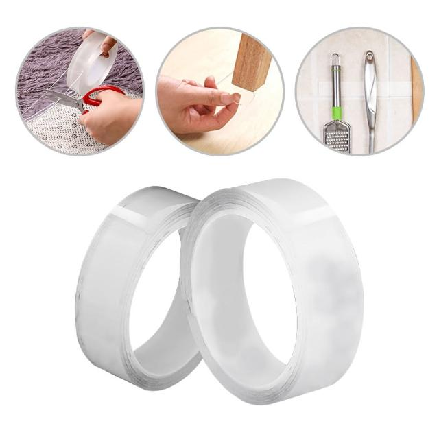 【JoyNa】神奇萬用膠 加厚強力黏性無痕雙面透明膠帶不留痕防水固定粘膠貼片(6個入)